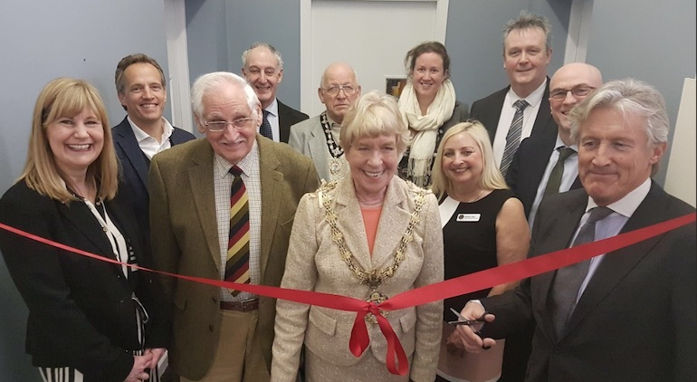 Sir Peter Ogden opens new science labs at The Derby High School, Bury