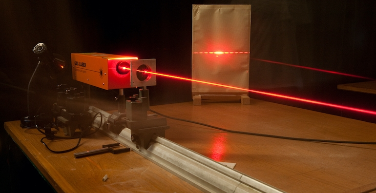 An image of a laser beam