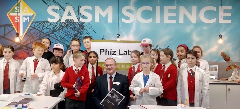 The Phiz Lab at SASM is officially opened by MP Sir Ed Davey