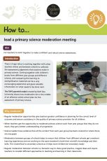 How to lead a primary science moderation meeting
