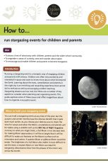 How to run stargazing events for children and parents