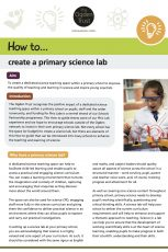 How to create a primary science lab