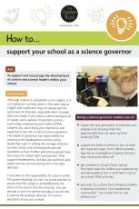 How to support your school as a science governor