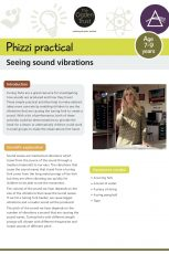 Phizzi practical: seeing sound vibrations