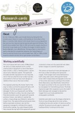 Research cards: Moon landings