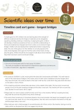 Scientific ideas over time: timeline card sort game - bridges