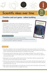 Scientific ideas over time: timeline card sort game - tallest buildings
