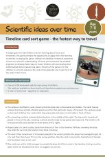 Scientific ideas over time: timeline card sort game - fastest way to travel