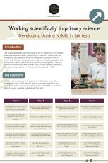 Working Scientifically: Fair Tests
