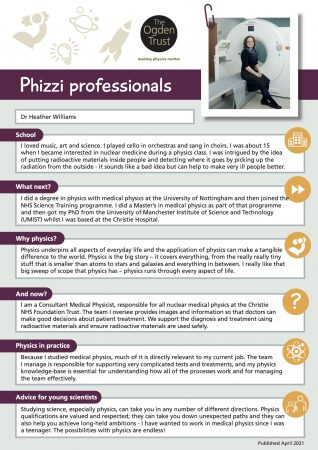 Phizzi professionals: Dr Heather Williams