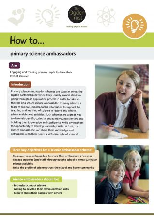 How to: primary science ambassadors