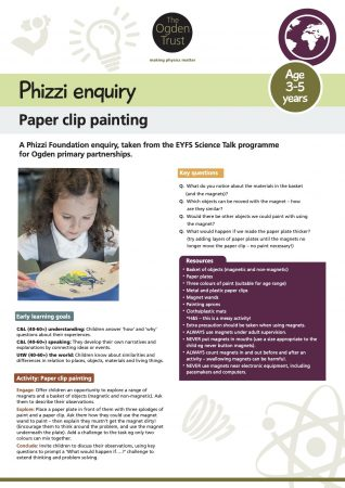 Phizzi enquiry: paper clip painting