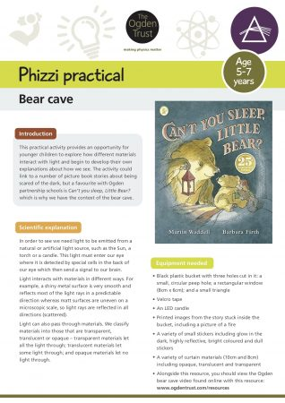 Phizzi practical: bear cave