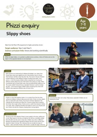 Phizzi enquiry: slippy shoes