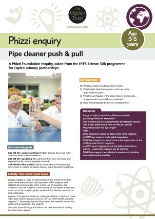 Phizzi enquiry: pipe cleaner push & pull