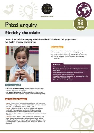 Phizzi enquiry: stretchy chocolate