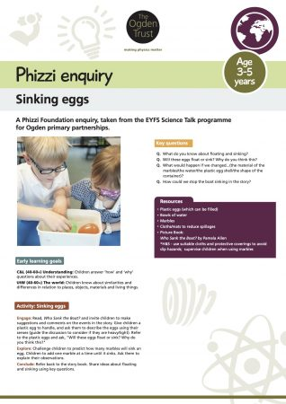 Phizzi enquiry: sinking eggs