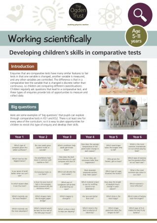Working scientifically: comparative testing