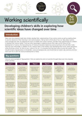 Working scientifically: ideas over time